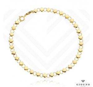 Bransoletka złota 585 splot z KONICZYNEK i KÓŁECZEK