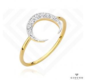 Złoty pierścionek z BRYLANTAMI pr 585