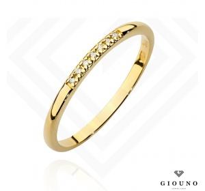 Złoty pierścionek z BRYLANTAMI obrączka pr 585