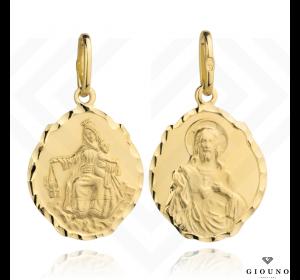 Medalik SZKAPLERZ 585 złoty duży dwustronny