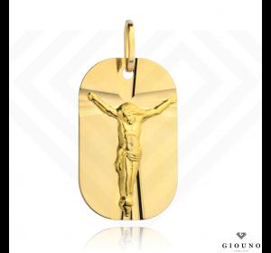 Medalik złoty 585 z Jezusem złota blaszka