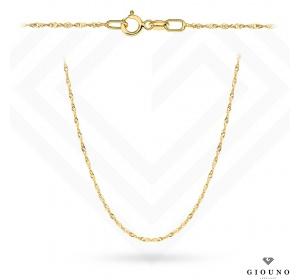 Złoty łańcuszek 585 singapur 45 cm