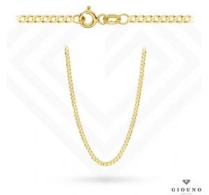 Złoty łańcuszek 585 pancerka 42 gładka