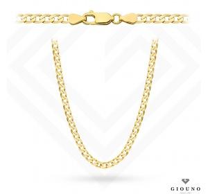 Złoty łańcuszek 585 pancerka 45 cm gładka