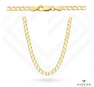 Złoty łańcuszek 585 pancerka 50 cm
