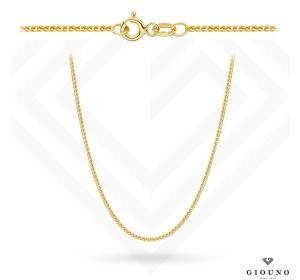 Złoty łańcuszek 50 cm splot lisi ogon 585