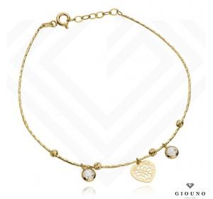 Złota bransoletka 585 z serduszkiem