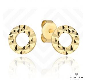 Kolczyki złote 585 na sztyft kółeczka RING