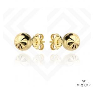 Kolczyki złote kulki 585 na sztyft diamentowane