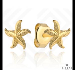Złote kolczyki 585 na sztyft rozgwiazda