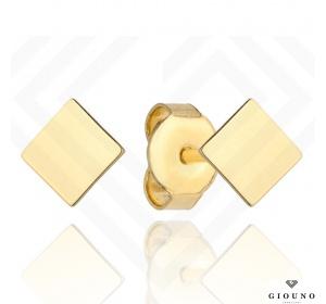 Złote małe kolczyki 585 na sztyft kwadracik