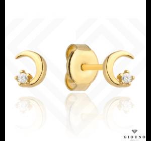 Kolczyki złote 585 malutki półksiężyc