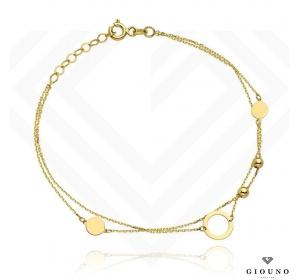 Złota bransoletka 585 RING złote kuleczki ankier