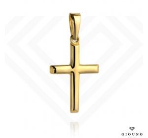 Złoty krzyżyk 585 zawieszka dwustronny