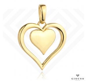 Zawieszka serce złota 585