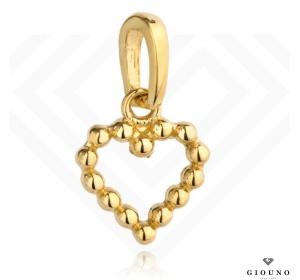Złote małe serduszko 585 ze złotych kulek