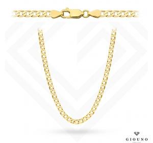 Złoty łańcuszek 585 pancerka 55 cm