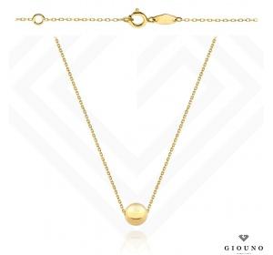 Naszyjnik złoty 585 ze złota kulką 50 cm