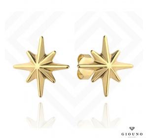 Złote kolczyki 585 na sztyft gwiazdki małe