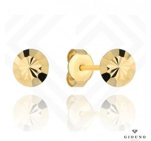 Złote kolczyki 585 kółeczka na sztyft