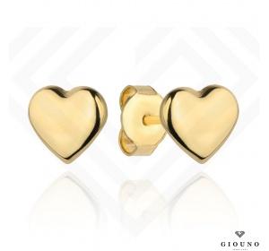 Kolczyki złote 585 serduszka na sztyft