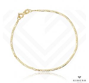 Złota bransoletka 585 splot figaro damska