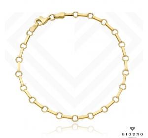 Bransoletka złota 585 kołka i owale elegancka