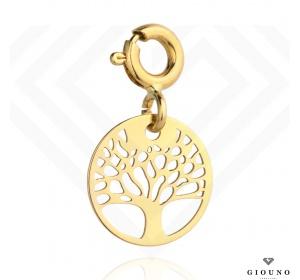 Charms zawieszka złota 585 z drzewem szczęścia