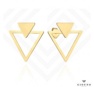 Kolczyki złote 585 na sztyft trójkąty