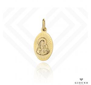 Medalik złoty 585 Matka Boska z Dzieciątkiem