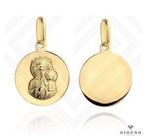 Złoty medalik 585 Matka Boska Częstochowska gładki