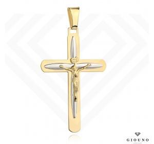 Złoty duży krzyżyk 585 z figurką Jezusa