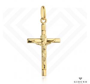 Krzyżyk złoty 585 z figurką Jezusa