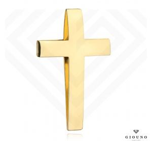 Złoty krzyżyk 585 gładki przewlekany