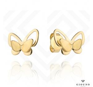 Złote kolczyki na sztyft 585 motylki