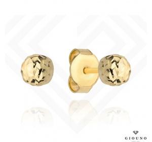 Złote kolczyki kuleczki 585 na sztyft średnica 6 mm