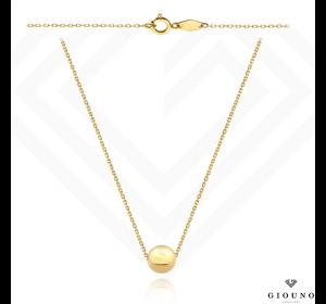 Złoty naszyjnik celebrytka 585 złota kulka