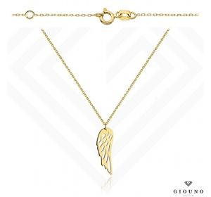 Złoty naszyjnik 585 ze skrzydłem anioła celebrytka
