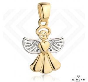Zawieszka złota 585 aniołek wisiorek