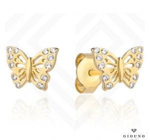 Kolczyki złote 585 motylki na sztyft