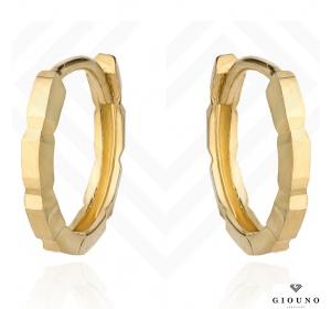 Złote kolczyki 585 kółeczka nacinane