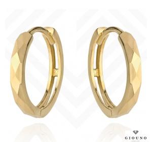 Złote kolczyki 585 kółeczka diamentowane