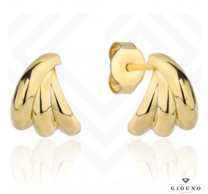 Kolczyki złote 585 na sztyft eleganckie
