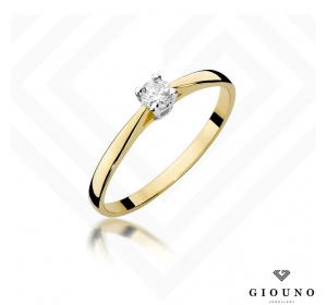 Złoty pierścionek z BRYLANTEM pr 585