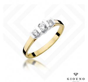 Złoty pierścionek z BRYLANTEM 0,31ct pr 585