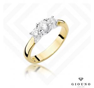 Złoty pierścionek z BRYLANTEM 0,49ct pr 585