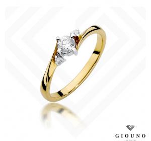 Złoty pierścionek z BRYLANTEM  0,28ct  pr 585