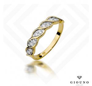 Złoty pierścionek z BRYLANTEM  0,20ct   pr 585