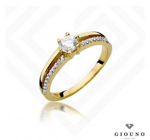 Złoty pierścionek z BRYLANTAMI 0,40ct  pr 585